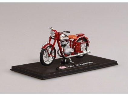 Jawa 250 Pérák 1948 tmavě červená 1 18 Abrex 100118M 006 01
