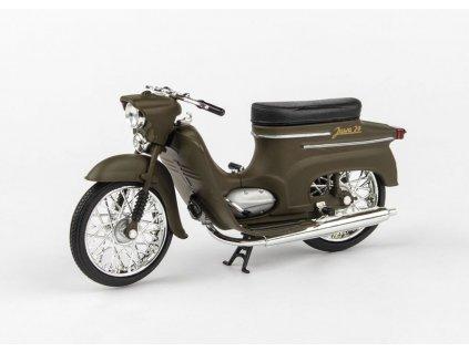 Jawa 50 Pionýr typ 20 1967 zelená Vojenská 1 18 Abrex 100118M 010g 01
