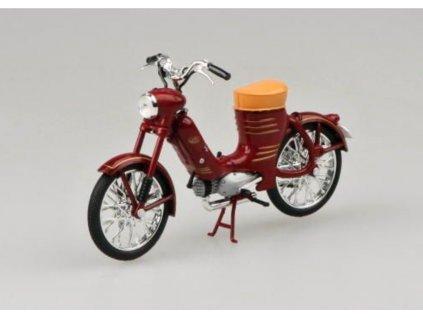 Jawa 50 Pionýr Pařez 1955 tmavě červená 1 18 Abrex 100118M 001 01