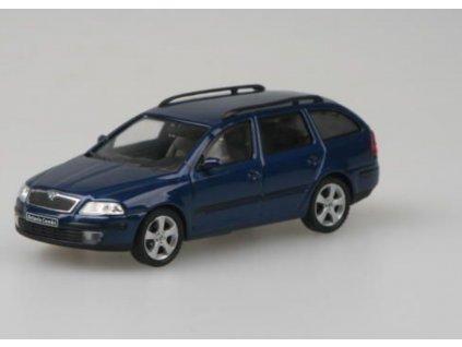 Škoda Octavia II Combi 2004 modrá Hlubinná met 1 43 Abrex 143AB 002K 01