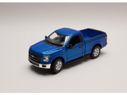 Ford F 150 Regular Cab 2015 met modrá 1 24 Welly 24063 01