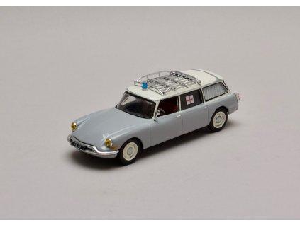 Citroen ID 19 Break Ambulance 1962 šedo bílá 1 43 Atlas 01