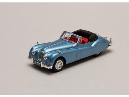 Jaguar XK140 Roadster 1957 modrá metelíza 1 43 Atlas 01