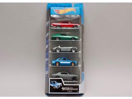 Sada 5 aut z filmu Rychle a zběsile (fast & furious) Hot Wheels GGH46 01