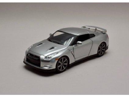 Nissan Skyline GT R R35 2009 stříbrná Rychle a zb. (Fast & Furious) 1 24 Jada Toys 97212 01
