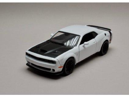 Dodge Challenger SRT 2018 Hellcat Widebody bílá černá 1 24 Motor Max 79350 01