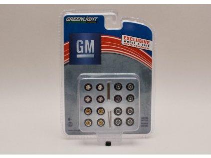 Sada kol+pneu+hřídelky %22General Motors%22 1 64 Greenlight 13167 01