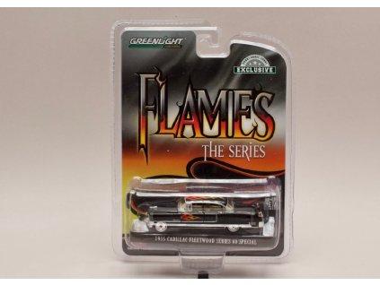 Cadillac Fleetwood 1955 Series 60 speciál Flames černá 1 64 Greenlight 30105 01