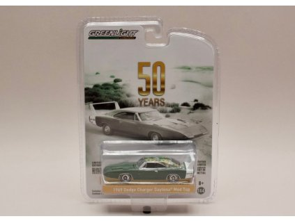 Dodge Charger Daytona 1969 Mod Top zelená 1 64 Greenlight 27970B 01