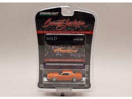 Dodge Challenger R T Hemi 1970 oranžovočervená 1 64 Greenlight 37160E 01