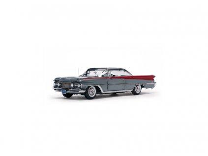 Oldsmobile 98 1959 Hard top šedostříbrná červená 1 18 Sun Star Platinum 5243 01