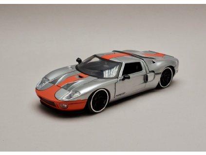 Ford GT 2005 stříbrno oranžová 1 24 Jada Toys 31324 01