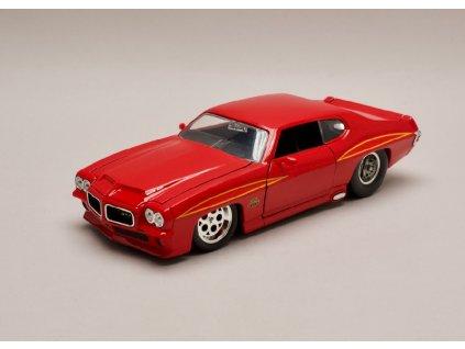 Pontiac GTO 1971 červená 1 24 Jada Toys 31645 01