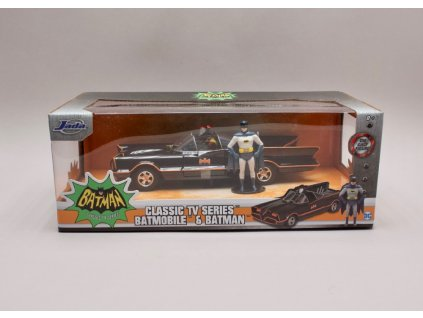 Batmobile %22Batman classic TV series %22 1966 + figurka 1 24 Jada Toys 98259 01