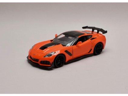 Chevrolet Corvette ZR1 2019 oranžová 1 24 Motor Max 79356 01
