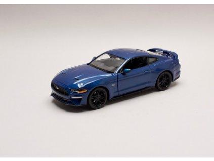 Ford Mustang GT 2018 modrá 1 24 Motor Max 79352 01