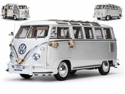 Volkswagen Samba 1962 Svatební verze bílá 1 12 Sun Star 5085 01
