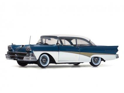 Ford Fairlane 500 1958 Hard Top %22Around The World%22 1 18 Sun Star Platinum 5283 01