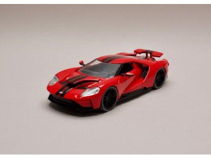 Ford GT 2017 červená černé pruhy 1 24 Jada Toys 99388 01