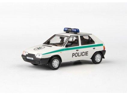 Škoda Favorit 136L 1988 Policie ČR plochý maják 1 43 Abrex 143ABSX 708XA8