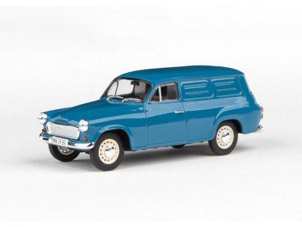 Škoda 1202 1965 Dodávka šedomodrá 1 43 Abrex 143ABS 729MN 01