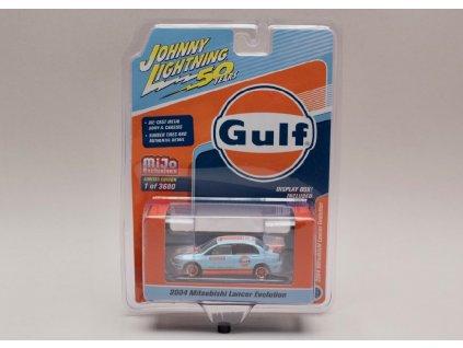 Mitsubishi Lancer Evo 2004 #74 Gulf 1 64 Johnny Lichtning JLCP 7203 01