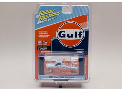 Ford F 450 Tow Truck 1999 Gulf 1 64 Johnny Lichtning JLCP 7257 01