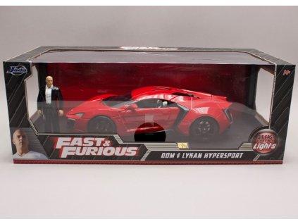 Lykan Hypersport 2014 + figurka + osvětleno Rychle a zb. (Fast & Furious) 1 18 Jada Toys 01