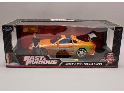 Toyota Sopra 1995 + figurka + osvětleno Rychle a zb. (Fast & Furious) 1 18 Jada Toys 01