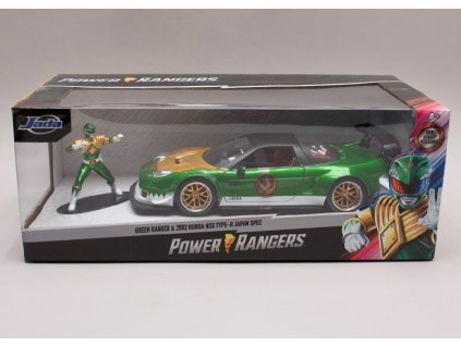 Honda NSX Type R Japan Spec + figurka Green Ranger %22Power Rangers%22 1 24 Jada Toys 31909 01