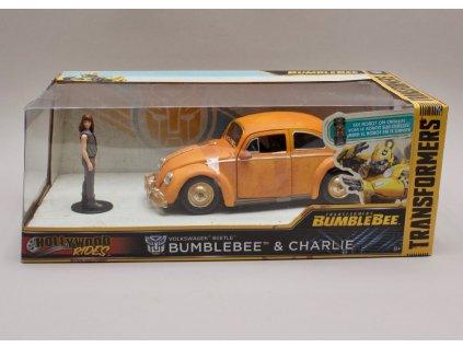 Volkswagen Beetle +figurka Bumblebee & Charlie 1 24 Jada Toys 30114 01