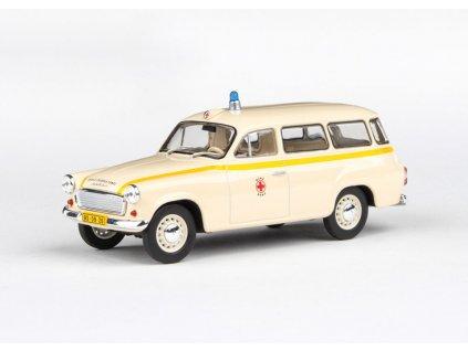 Škoda 1202 1964 Sanitka MÚNZ Brno 1 43 Abrex 143ABS 728XO5 01