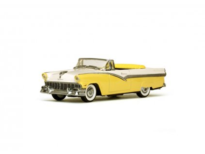Ford Fairlane 1956 Open Convertible Goldenglow Yellow Colonial White 1 43 Vitesse 36278 01