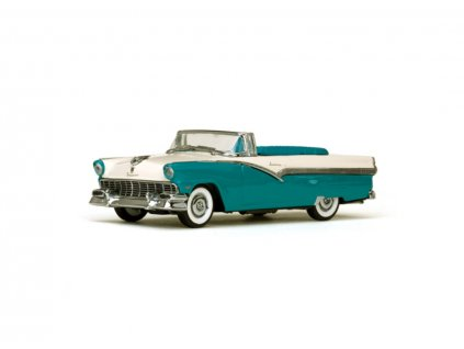 Ford Fairlane 1956 Open Convertible Peacock Blue Colonial White 1 43 Vitesse 36279 01