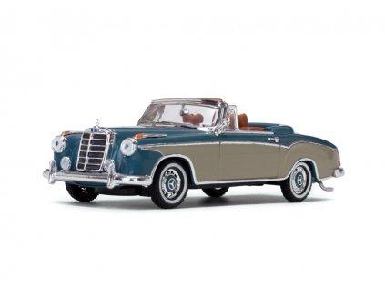 Mercedes Benz 220SE Cabriolet 1958 Light Blue Cream 1 43 Vitesse 28625 01