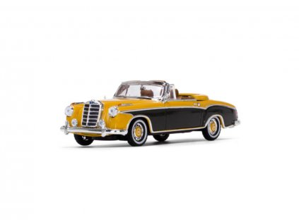 Mercedes Benz 220SE Cabriolet 1958 Yellow Brazil Brown 1 43 Vitesse 28626 01