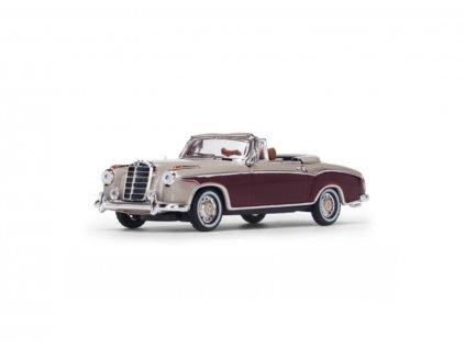 Mercedes Benz 220SE Cabriolet 1958 Light Ivory Red 1 43 Vitesse 28627 01