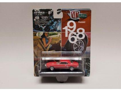 Pontiac Firebird 400 H.O. 1968 červená 1 64 M2 Machines 01