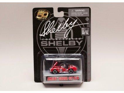 Shelby Cobra 427 S:C #98 červená bílé pruhy 1 64 Shelby Collectibles 01
