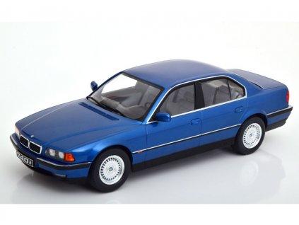 BMW 740i E38 1.Series 1994 modrá metalíza 1 18 KK scale KKDC 180362 01