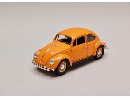 Volkswagen beetle 1967 oranžová 1 24 Lucky Die Cast 24202 01
