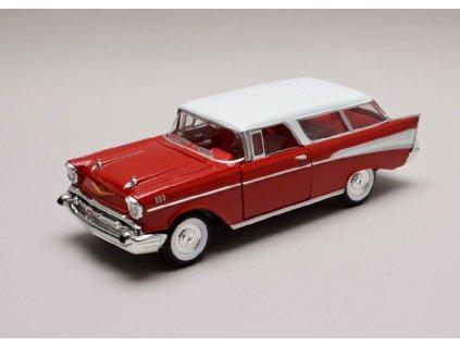 Chevrolet Nomad 1957 červeno bílá 1 24 Lucky Die Cast 24203 01