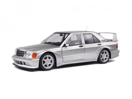 Mercedes Benz 190 EVO II W201 1990 stříbrná 1 18 Solido S1801005 01