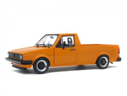 Volkswagen Caddy MK1 1982 Custom oranžová 1 18 Solido S1803502 01