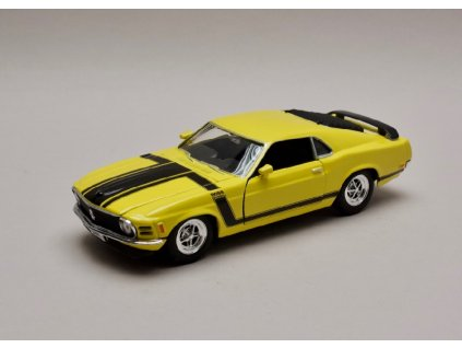 Ford Mustang Boss 302 1970 žlutá 1 24 Welly 22088 01