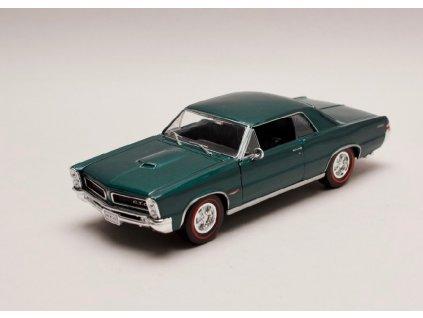 Pontiac GTO 1965 tmavě zelená metalíza 1 24 Welly 22092 01