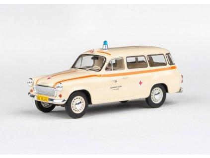 Škoda 1202 1964 Sanitka ZS Praha 134 1 43 Abrex 143ABS 728XO 01