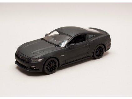 Ford Mustang GT 2015 matná černá 1 24 Welly 24062 01