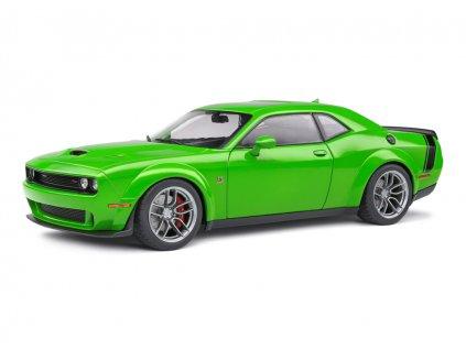 Dodge Challenger R:T 2020 Scat Pack Widebody zelená 1 18 Solido 1805704 01