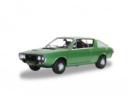 Renault 17 MK1 1976 metalíza zelená 1 18 Solido 1803701 01